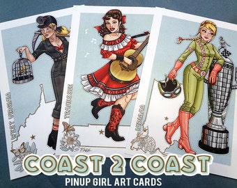 Art Cards : Coast 2 Coast Pin-Ups