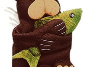 The Original Sneezes Bear with Fish Sewing Pattern Tissue Box Cover