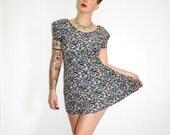 Vintage Dress Floral Print Party Dress