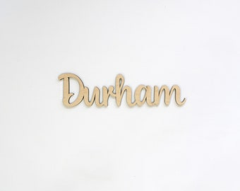 "24"" Wide Raw Wood Name Cutout Sign - Personalized Last Name Wood Sign - DIY Unfinished Custom Sign - Personalized Family Name Wedding Sign"