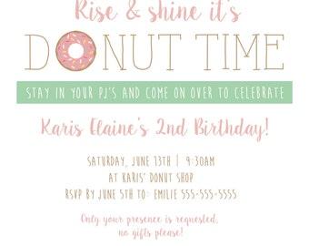 Rise and Shine, It's Donut Time Invitation (PDF)