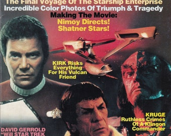 Vintage Star Trek III The Search For Spock Official Movie Magazine 1984 by Starlog -  Saavik - Khan - Chekov - Kirk - Vulcan - Earth