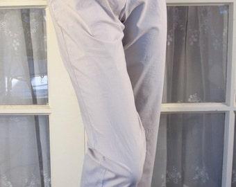 Vintage 90's women's Brooks Brothers khaki cotton stretch capris size 8