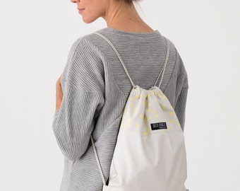 """Bag """"POLKA DOTS"""" for special occasions. Beautiful backpack for people who appreciate quality. Designed and Crafted in Germany."""