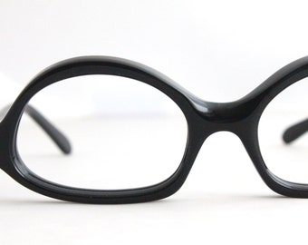 Vintage 50's Black Cat Eyeglass Frames