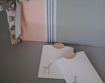 Pink and Grey Photo/Scrapbook Album