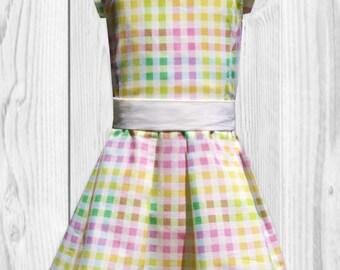 Birthday Dress - Pink Dress - Baby Girl Dress - Toddler Girls Dress - Girls Clothes - Pastel Dress - Girls Summer Dress - Yellow Baby Dress