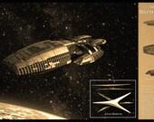 Battlestar Galactica Limited Edition Geekograph Metal Art