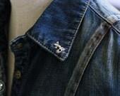 Small Gecko tie tack lapel pin