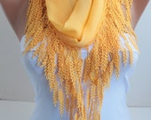 Sunny Scarf Yellow Shawl Scarf - Lace Scarf Cotton Scarf Cotton Scarf Fashion Women Accessories Gift For Her for Mom DIDUCI