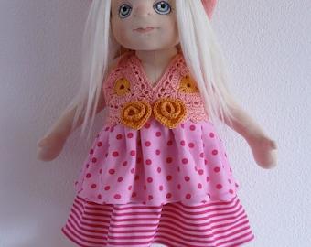 Fenneke, Handmade Soft Cloth Doll