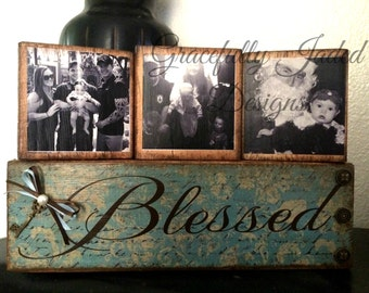 Blessed Blocks SALE, Photo Blocks, Blessing Blocks, Wedding Gift, Blessed Photos, Photo Blocks