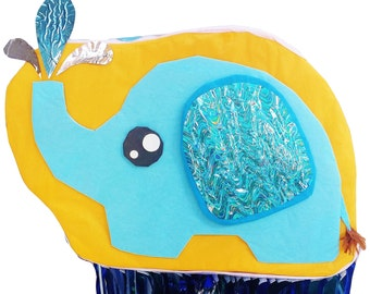 2D Pinata Baby Blue Elephant Squirting Water | Fun Party Game | Baby Shower Ideas | Cute Baby Elephant Theme Party | Jungle Party Decor