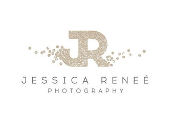 Glitter Confetti Premade Photography Logo and Watermark Design - Photography or Boutique Logo  - Business Branding