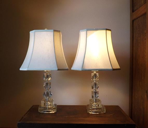 stacking crystal table lamps regency crystal base. Black Bedroom Furniture Sets. Home Design Ideas