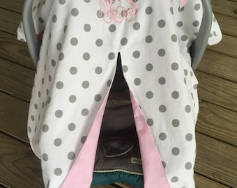 Custom Embroidered Car Seat Canopy Cover