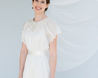 Bridal wedding veil fingertip length  - Emma