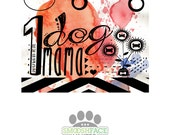 """Dog mom car sticker text reading 'Number 1 dog Mama' 3""""x5"""" vinyl decal - perfect for gifting from the dog"""