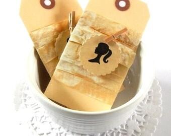 Seam Binding Ribbon. Coffee Stained Seam Binding. Shabby Ribbon. Vintage Trim. Scrapbook Supply. Satin Ribbon. Hug Snug. Gift Ribbon. Coffee