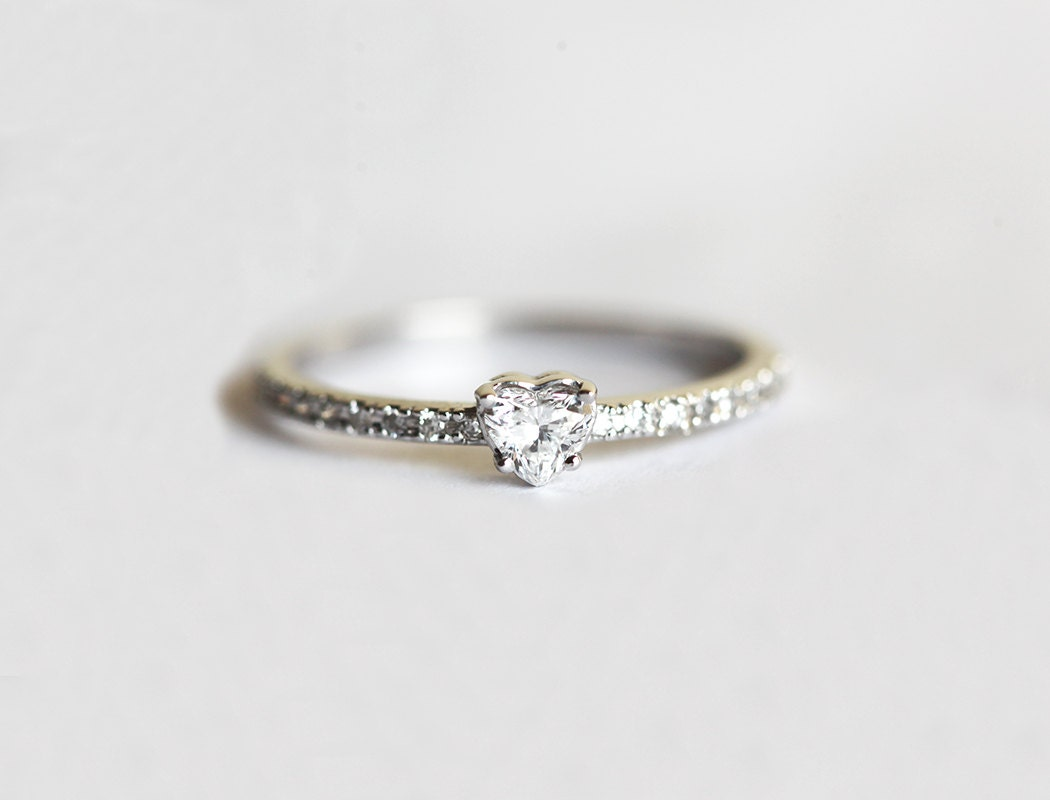 Heart Diamond Ring Diamond Heart Ring Diamond Engagement
