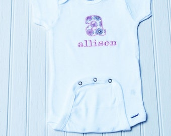 Personalized Embroidered Appliqué Baby Girl Onesies