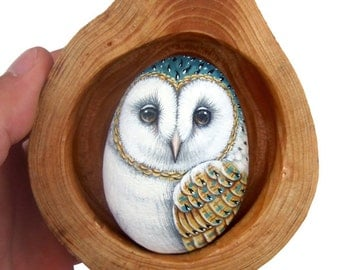 Barn Owl's Nest | Unique 3-D Art Totally Hand Painted by the Artist Roberto Rizzo