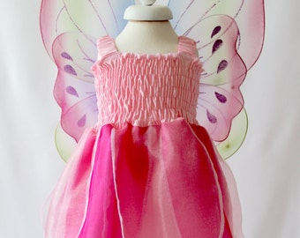 Girl's Fairy Dress, Hot Pink Fairy Dress, Baby Fairy Costume, Girl's Party Dress for Newborn Baby, Toddler & Girl
