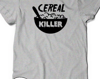 Funny Cereal Killer T shirt T-Shirt Tee Men Women Ladies Funny Humor Birthday Gift Ideas Present Cute Puns Punny Breakfast Cereal Lover Milk