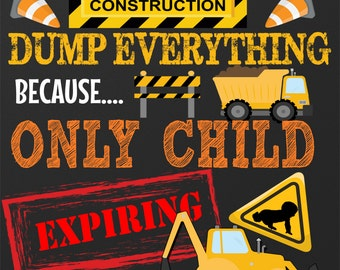 construction pregnancy announcement, new baby under construction pregnancy sign only child expiring soon pregnancy announcement ID# PRGAUT01