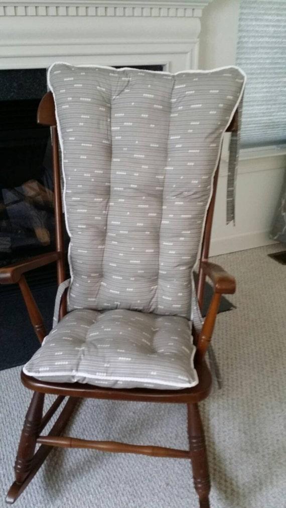 Custom organic abacus rocking chair cushions glider