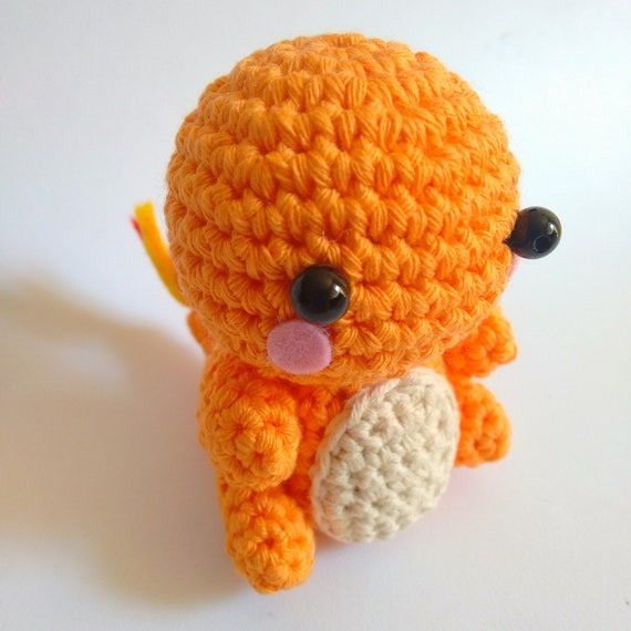 Handmade crocheted amigurumi Charmander Pokemon MADE TO