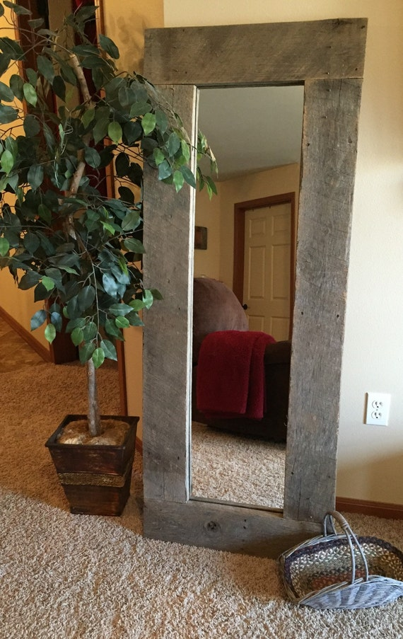 Rustic Wood Full Length Mirror Pallet Furniture Standing