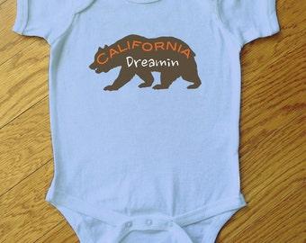 California Dreamin Bear Onesie