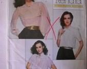 Vogue RENATA French Boutique  Misses Blouses Pattern 2185 Size 8