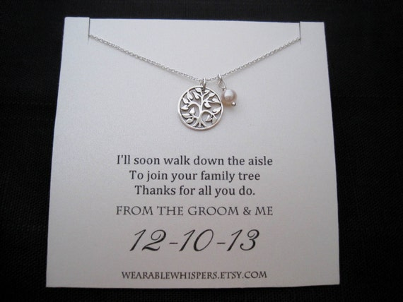 Mother Of The Groom Gift: Mother Of The Groom Necklace Mother Of The Groom Gifts