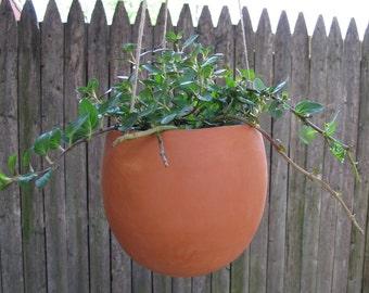 hanging terra-cotta planter, oblong