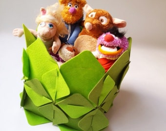 Felt Basket Toys / Montessori Toys / DIY Kit For Kids