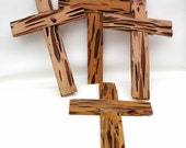 Handmade Cypress Wood Crosses Wooden Crucifix Religious Art Reclaimed Wood Natural Pecky Cypress Wall Hangings