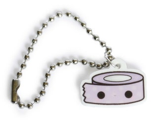 Kawaii Lilac Washi Tape Planner Charm- Kikki K, Filofax, Keychain