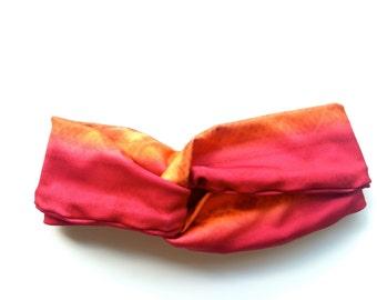 Turband Headband, Orange and pink reversiable headband turbans