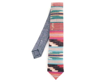 Navaho Colorful Ikat Woven Necktie