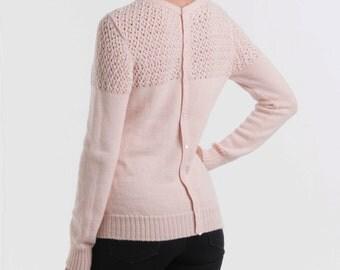 Baby Alpaca Wool Button Back Jumper | Wool Button Back Sweater | 100% Baby Alpaca Soft Sweater