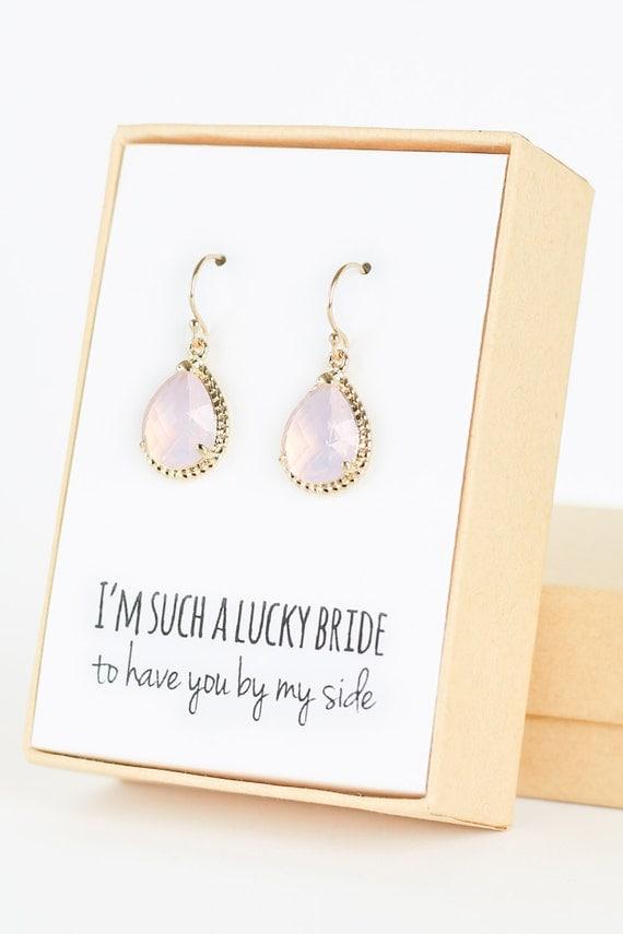 violet opal gold rope rim earrings