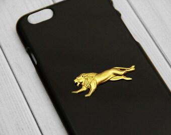 Black iPhone 6 Case iPhone 6s Lion Cell Phone Cover Gold iPhone 6 Plus Protector iPhone 6s Plus Case Unique iPhone Cases