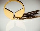 Modern Minimalist Keychain - CNC Machined Naval Brass - Sleek Contemporary Keychain - Guy's Gift - Men's Gift - Boyfriend Gift
