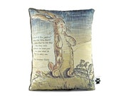 The Velveteen Rabbit - Little Decorative Pillow With Quote - Rabbit Nursery Decor