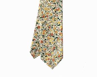 Molly - Honey Yellow Floral Men's Tie