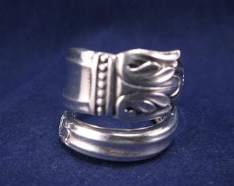 "FREE SHIPPING Spoon Ring 1938 ""Danish Princess"" Vintage Handmade Spoon Jewelry Size 7"
