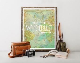 Travel Decor, Wanderlust, Wanderlust Poster, Travel Poster,Travel Quote, Travel Printable, Travel Download, Travel Print, Travel Art 0236