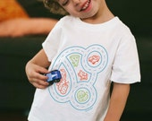 Youth M, Race Car Shirt, Play Mat Tshirt, Race Track, Car Birthday Party, Car Party, Toddler Boy Shirt, Play Therapy, Gift for Autistic Boy